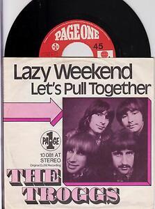 THE-TROGGS-Lazy-Weekend-Original-1971-German-2-trk-7-vinyl-single-in-p-s