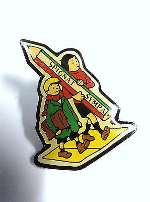 RARISSIME pin's Spignat Quick et Flupke No Tintin