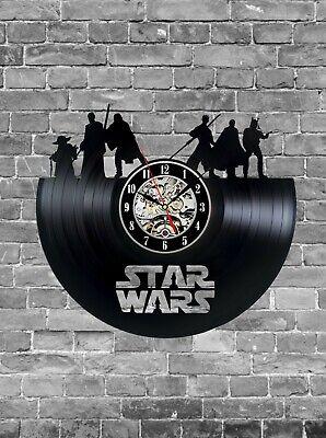 Star Wars Clock, Star Wars Wall Decor, Star Wars gift, Vinyl Record Wall Clock
