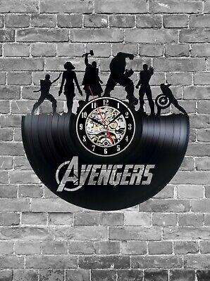 Avengers Vinyl Record, Marvel Universe, Wall Clock Nursery Decor Gift for Him