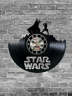 Star Wars Wall Decor, Star Wars Clock, Vinyl Records Wall Clock, Gift Idea