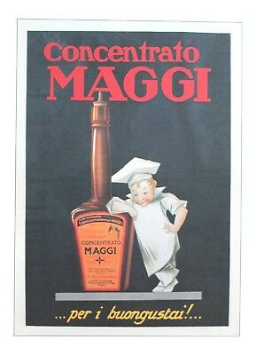 Vintage European Advertising Poster Concentrato Maggi Lithograph 2002