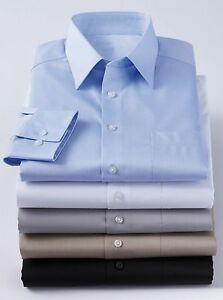 Calvin-Klein-100-Pure-Cotton-Finish-Mens-S-3XL-Oxford-Herringbone-Dress-Shirts