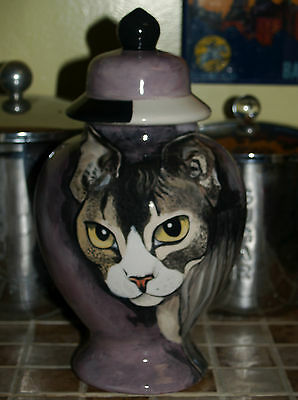 Custom Pet urn for ashes Cat urn jar Medium memorial SPHYNX hairless cat kitty