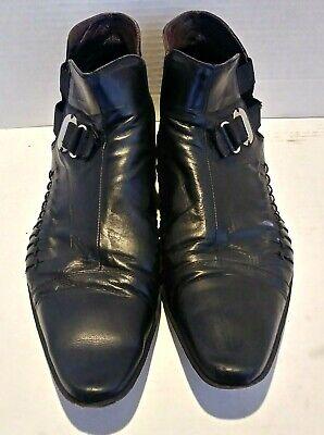 Cesare Paciotti Italian Black Mens Dress Shoes Size 10