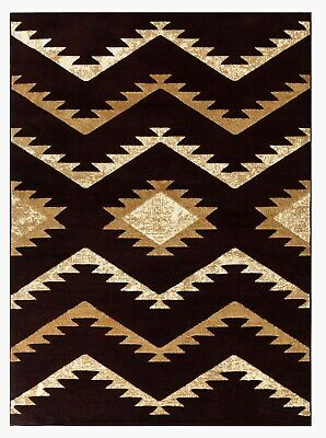 - Abstract dark burgundy gold Area rug Nwprt #77 soft pile size 2x3 3x5 5x7 8x11
