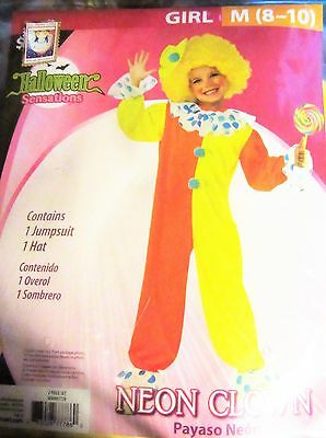 scary clowns Outfit 10-12 no WIG Neon Clown C2  Halloween costume monster