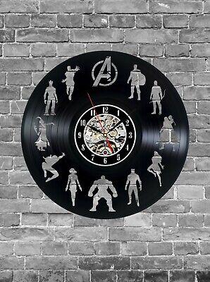 Comics Handmade Record Wall Clock, Art Home Decor Interior Best Gift for Fans