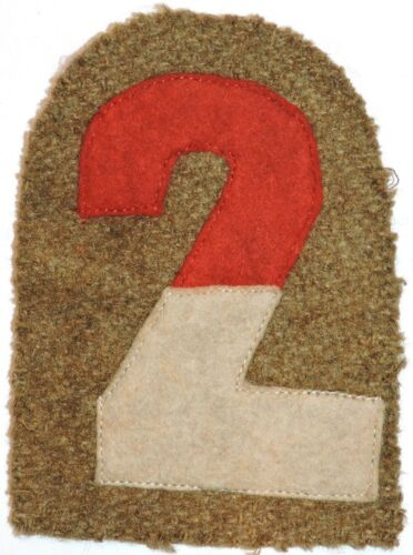 WWI US Army AEF 2nd Army shoulder insignia