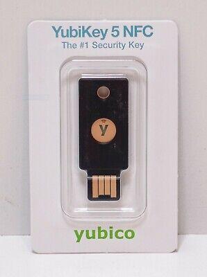 Yubico YubiKey 5 NFC Two Factor 2FA USB Security Key - Factory Sealed
