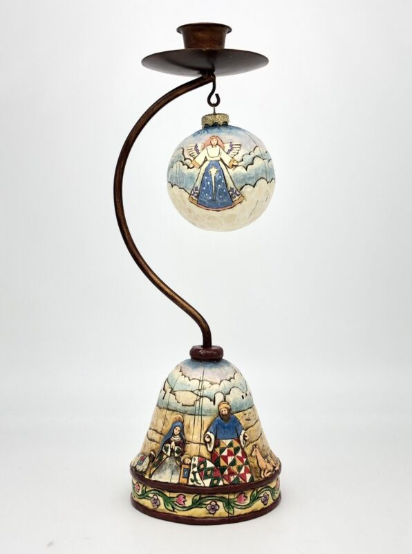 Heartwood Creek Jim Shore Christmas Hanging Ornament Candle Holder Nativity 05'