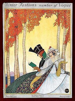 Vogue Magazine Original Cover Only ~ November 1, 1915 ~ George Plank