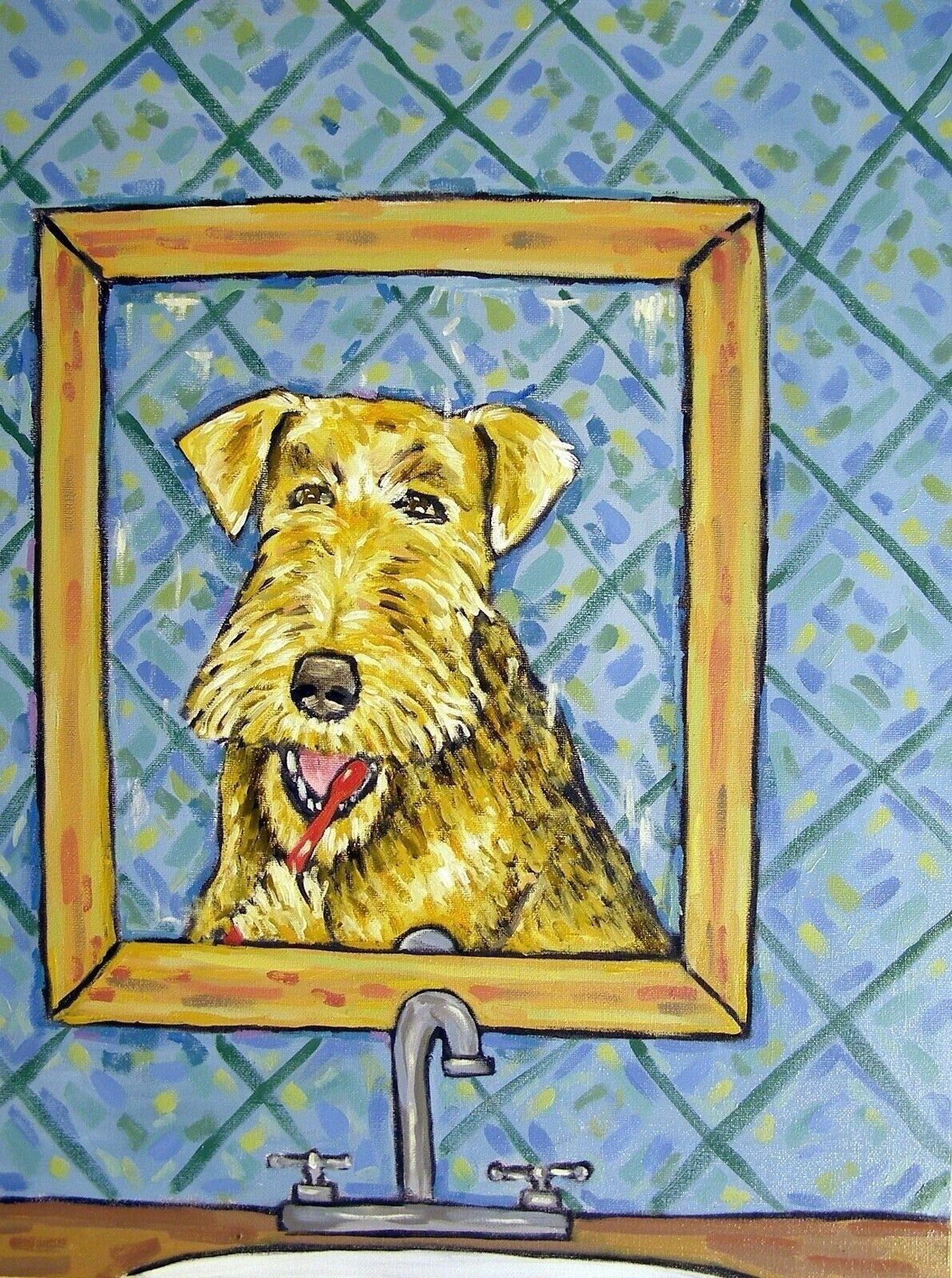 FOX TERRIER dog prints 13x19  art print artist animals bathroom gift new