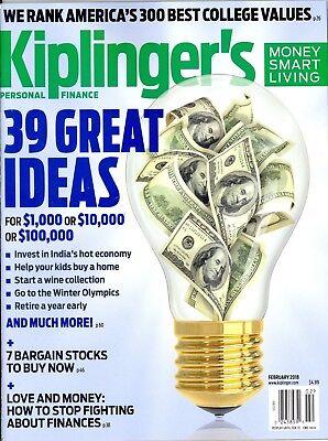 Kiplinger's Personal Finance February 2018 Best College Values Bargain