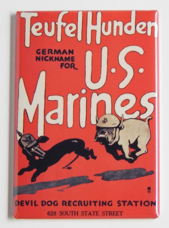 Marine Corps FRIDGE MAGNET recruiting poster devil dogs semper fi USMC