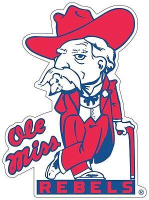 Ole Miss Colonel Reb Rebels Color Die Cut Vinyl Decal Sticker - You Choose - Ole Miss Colors
