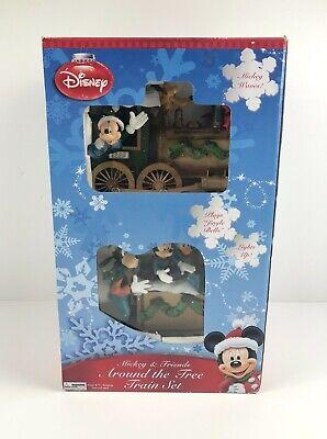 Disney Christmas Mickey And Friends Around The Tree Train Set Holiday NO TRACK