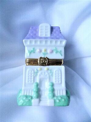 Lenox Treasures Heart and Home hinged porcelain jewelry box