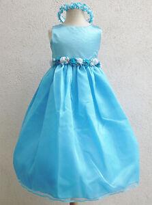 AQUA-POOL-BLUE-KIDS-FLOWER-GIRL-DRESS-PARTY-GOWN-SIZE-2-4-8-10-12