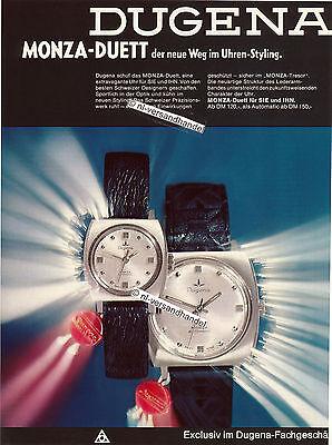 Dugena-Monza--1969-Reklame-Werbung-genuine Advertising - nl-Versandhandel