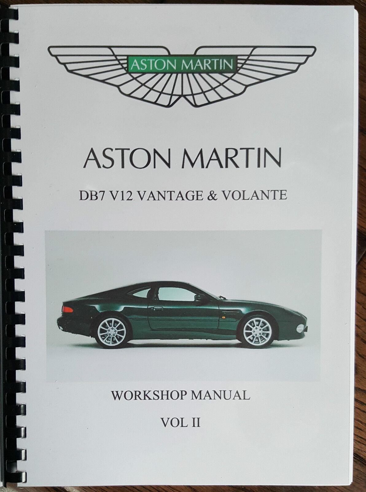 3 of 5 Aston Martin Db7 V12 Vantage & Volante Workshop Manual 99-03  Reprinted Full 4 of 5 Aston Martin ...