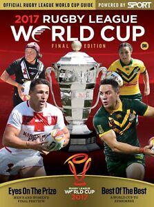 RUGBY LEAGUE WORLD CUP 2017 FINAL AUSTRALIA v ENGLAND PROGRAMME
