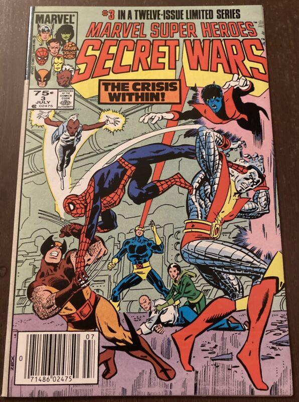 Secret Wars #3 High Grade NM 1st Titania & Volcana 1984 Marvel Newsstand Edition