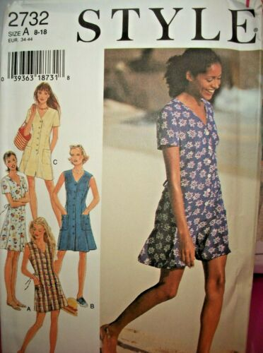 Miss Style 2732 Pattern Front Button Dress OR Romper UNCUT Size 8-10-12-14-16-18