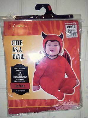 Cute As A Devil Infant Size 12-18 months Halloween Costume Costumes USA Dress Up - A Devil Costume