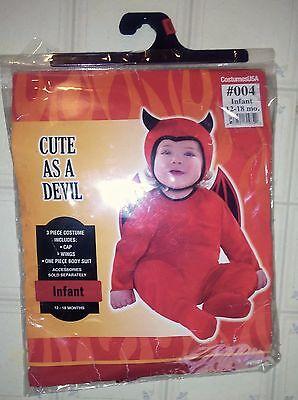 Cute As A Devil Infant Size 12-18 months Halloween Costume Costumes USA Dress Up (A Devil Halloween Costume)