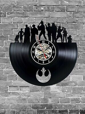 Star Wars Movie Vintage Record Wall Clock Gift Idea, Star Wars Home Decor