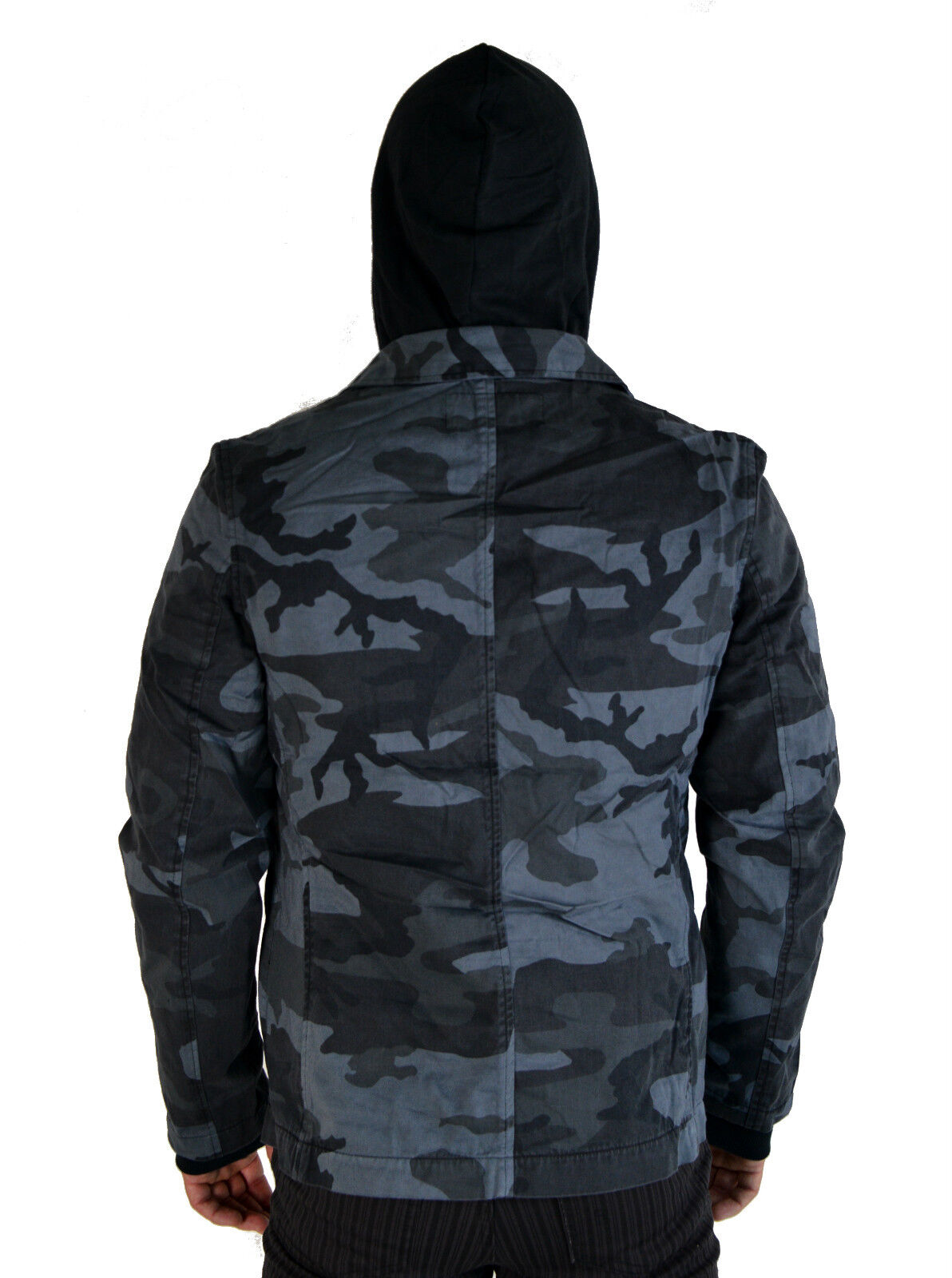 TRIPP MILITARY GOTH ARMY GRAY CAMO 2PC in 1 GOTHIC COAT HOODIE JACKET AF3832M Clothing, Shoes & Accessories
