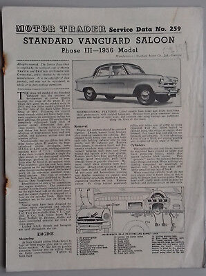 Standard Vanguard saloon, Phase III - 1956 Model