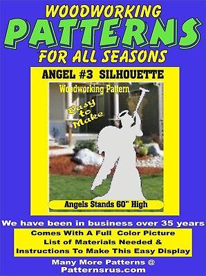 ANGEL SILHOUETTE #3 CHRISTMAS WOODWORKING PATTERN yard art  patternsrus