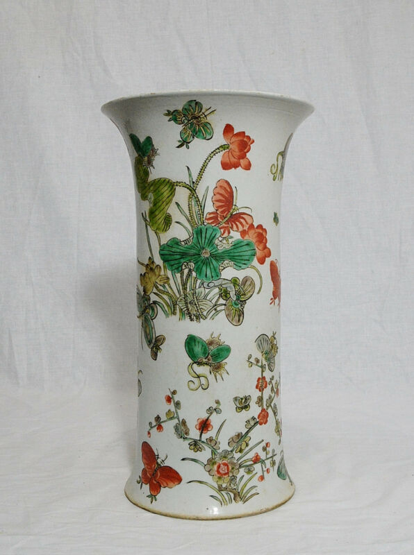 Chinese  Wu-Cai  Porcelain  Beaker  Vase  With  Mark     M545