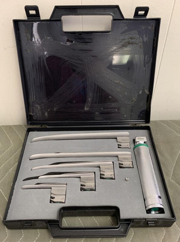 SunMed GreenLine Fiber Optic E-Miller Kit Ez 0,1,2,3,4 Laryngoscope Handle/lamp