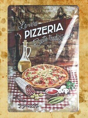 US Seller- decorative home decor La vera Pizzeria  tin metal sign - Pizzeria Decor