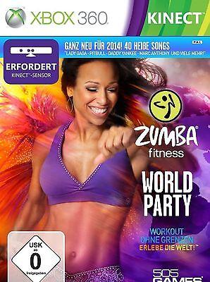 ZUMBA WORLD PARTY FITNESS WORKOUT EXERCISE TRAINING XBOX 360 NEW VIDEO GAME gebraucht kaufen  Versand nach Germany