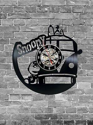 Vinyl Clock Snoopy Vinyl Wall Clock Handmade Art Decor Original Gift