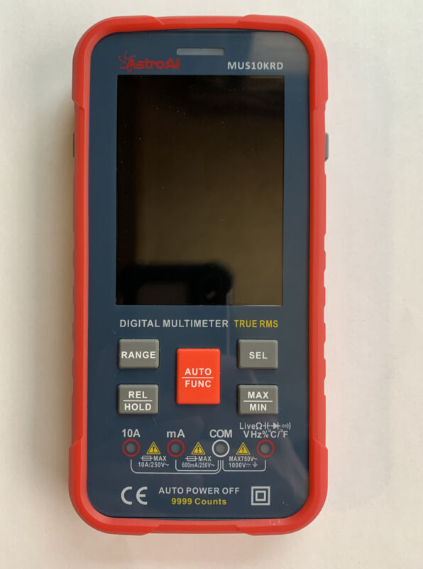 AstroAI Digital Multimeter 10000 Counts TRMS Auto-Ranging Color LCD Screen Fast