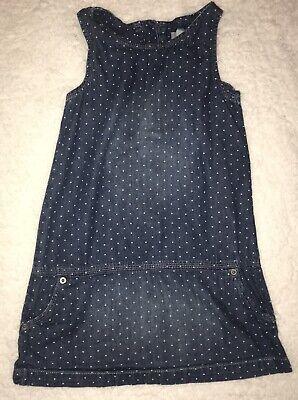 Baby Gap Denim Size 5 Dress Polka Dot Jeans