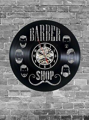 Barber Shop Vinyl Record Wall Clock, Haidresser Art Home Decor Interior Design