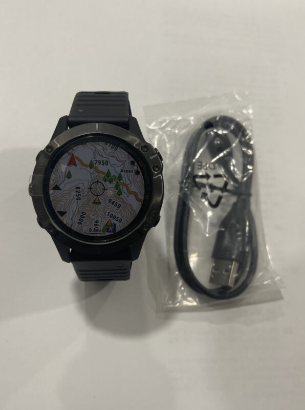 Garmin 010-02158-10 Fenix 6 Sapphire GPS Smartwatch - Gray/Black
