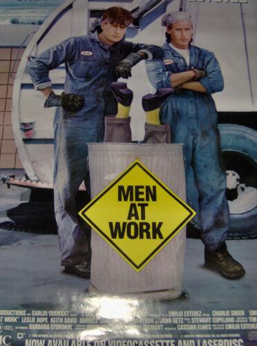 Vintage 90s Original Video Movie Poster Sheen & Estevez Men at Work  ROLLED