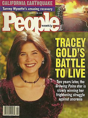 People Magazine January 31 1994 Tracey Gold Tammy Wynette California Earthquake