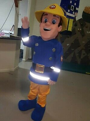 Fireman Sam Halloween Costumes (Hot Fireman Sam Mascot Costume Cosplay Firefighters Professional Halloween)