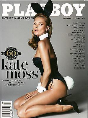 PLAYBOY MAGZINE KATE MOSS JANUARY FEBRUARY 2014