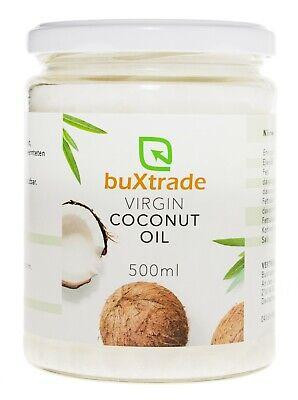 1 Cristal Vidrio (500ml) Virgin Coconut Oil Aceite de Coco para Cocinar...