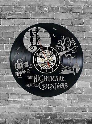 Nightmare Before Christmas Vinyl Clock, Wall Clock, Home Decoration, Gift Idea