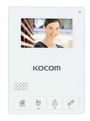 "Kocom KCV-434 Color Video phone 4.3"" Inch + KC-C60 Door Camera for 220V/60Hz"